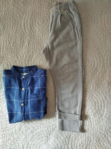 Zara kids πουκάμισο βαμβακερό 4ευρω και παντελόνι βαμβακερό λινό για