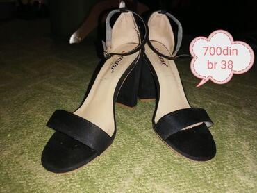 Zenska odeca i obuca - Srbija: Ženska obuća od 500 do 800 dinara Sandale i cipele Br 38 i 39 Veoma oč