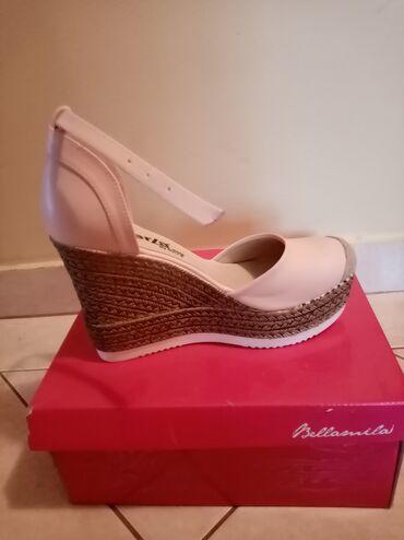Bundu roze boje - Srbija: Nove cipele na platformu, bebi roze, nove nisu nosene ni jednom. Broj