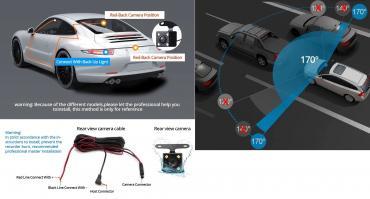 Vozila | Kopaonik: Retrovizor za auto sa putnom i parking kamerom    VE
