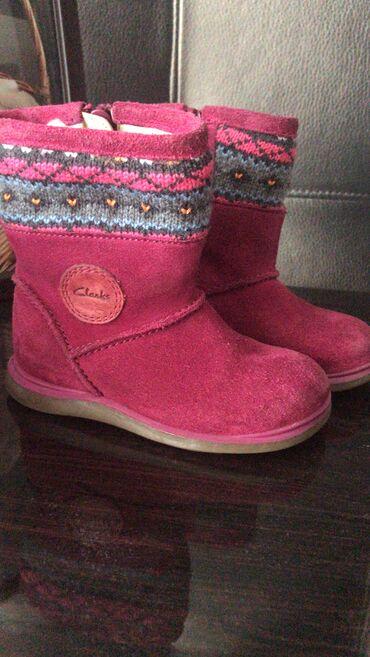 зимние развлечения в Азербайджан: Сапожки зимние Clarks замшевые размер 23 Элемляр