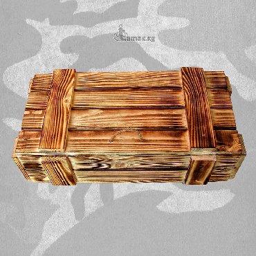цветы для домашнего декора в Кыргызстан: Подарочный брутальный ящик для мужских подарков на 23 февраля и не