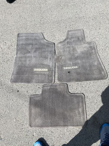 Коврики тойота секвоя 3  С 7 оригинал серые 3 ряд коврик  Багажни