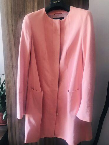 Женская одежда - Милянфан: Розовый тренч и брюки.Италия.Бренд Caractere.Размер 44