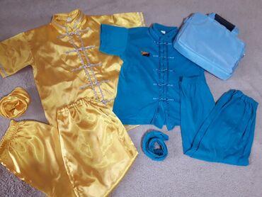 Спортивная форма - Кыргызстан: Форма для для кунг-фу ушу (6-9 лет) + сумочка для формы