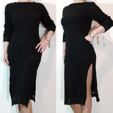 Trikotazna-pamuk - Srbija: Made in Italy,trikotazna,rupicasta haljina sa dubokim slicevima