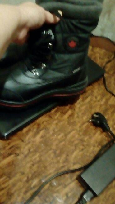 11343 elan | ŞƏXSI ƏŞYALAR: Брендовые привозные чёрные кожаные сапожки модные.производства Канады