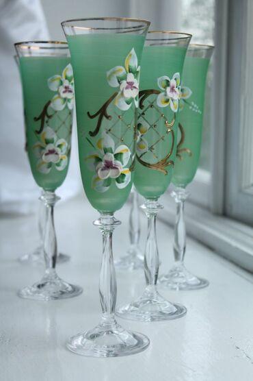 Ev və bağ Qusarda: Стеклянные бокалы, 6 штук. Неиспользованные, в коробке. Объявление