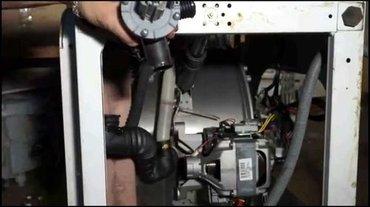 Indesit замена помпы у стиральной машины в Бишкек