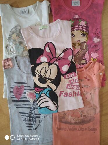 5 majica za devojcice Velicina 104