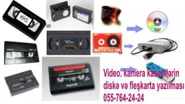 Video kassetdən diskə 1 ədəd video kassetin diskə yazilmasi.saatindan