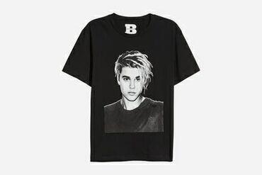 хлопковые футболки в Кыргызстан: Хлопковая футболка с принтом Justin Bieber Purpose Tour Размер М В