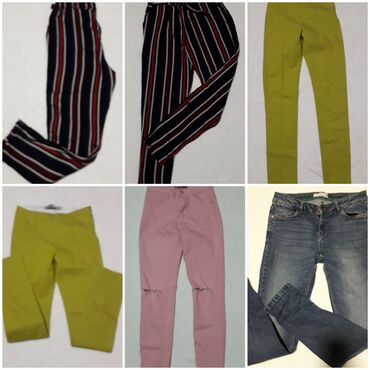 Četvoro pantalona(kivi zelene su helanke) vel xS/S za 1000 din Može i
