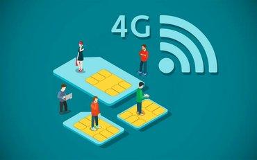 Продаю сим карты с полным Безлимитным интернетом 4G. Симкарты подходят в Бишкек