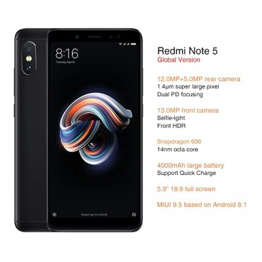 Xiaomi Note 5 Global Version в Qobustan