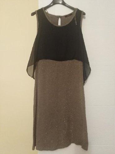 Zlatne baletamke - Srbija: Svečana haljina broj 42,kombinacija crne i zlatne