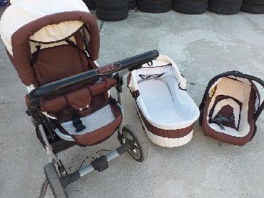 Kunert silver 3u1 kolica za bebe, braon-bez boje, solidno ocuvana