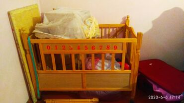 бу детские кроватки в Кыргызстан: Детская кроватка . Кен-Булун. Обращаться по телефону