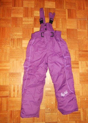 Pantalone ski -kao nove vel. 12 spolja inpregnirano a untra je - Beograd