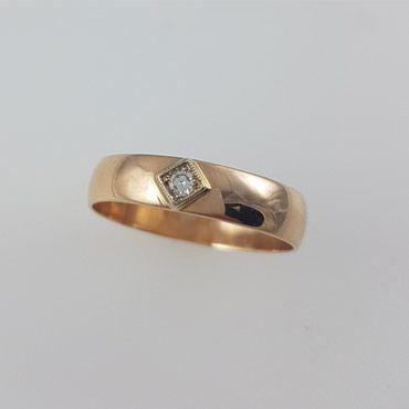 Кольцо обручальное из красного золота в Бишкек