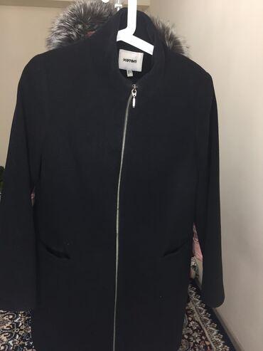 Пальто чёрное качество отличное не скатывается вообще размер S-M
