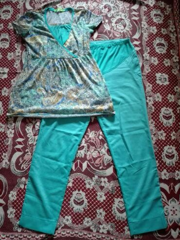Женская одежда в Кыргызстан: Костюм для беременных 46 размер, подойдет до 48 размера (брюки