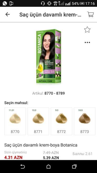 saç boyaları - Azərbaycan: Faberlicden davamli saç boyalari