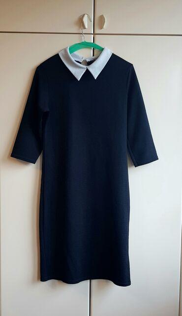 Haljine - Crvenka: School girl haljina - Preslatka haljinica ravnog kroja sa belom