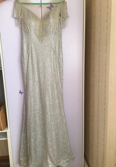 туника из турции в Кыргызстан: Вечернее платье из Турции. Цвет:серебро размер: 48,50