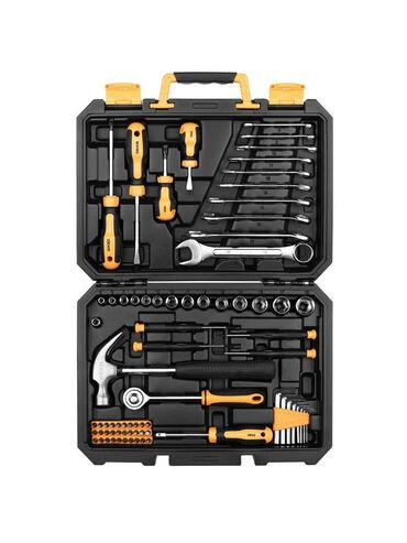Наборы инструментов - Кыргызстан: Универсальный набор инструмента для дома и авто в чемодане DKMT74 (74