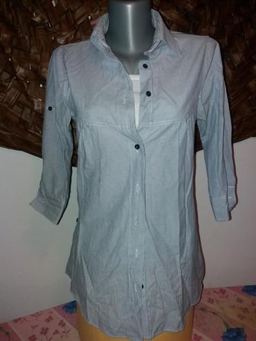 Košulja , tri četvrt rukavi. Prelep model ženske košulje, plavo - Mladenovac