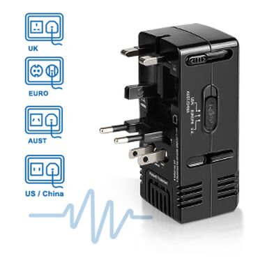 samsung wifi адаптер в Кыргызстан: Комбинированный дорожный адаптер GJT 1875W Преобразователь питания для