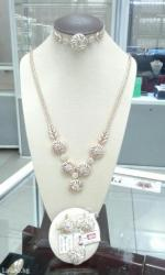 Полный комплект: кольцо+серьги+колье+браслет. золото 585 проба. в Бишкек