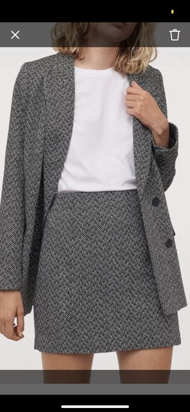 dubljonka s kapjushonom в Кыргызстан: Продаю новую юбку фирмы h&m размер s(36)