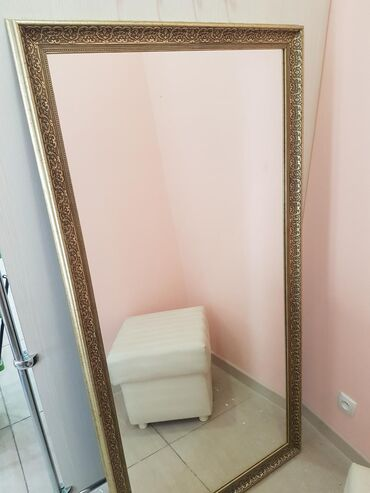 Декор для дома - Кыргызстан: Гримерное зеркало 80×160 смКрасивый багет под старину Смотрится