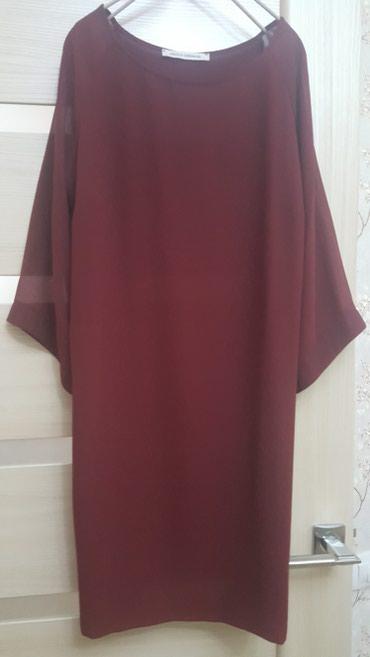 платье из шифона в Кыргызстан: Вечернее народное платье. Цвет бордовый. Из шифона. Размер 36/42 S