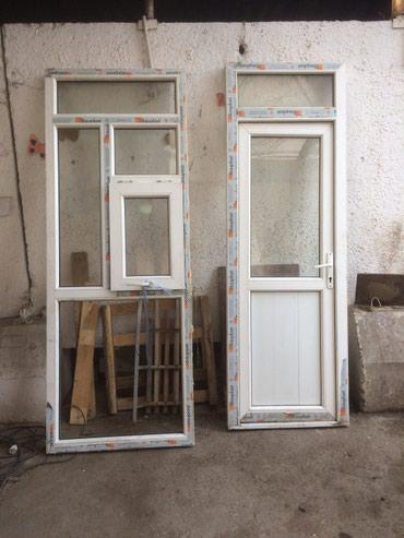 Две новые поастиковые двери из хорошего турецкого профиля в Бишкек
