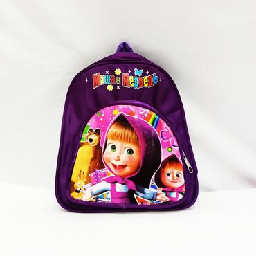 Детский рюкзачок Маша и Медведь - сказочная сумочка на лямках с двумя