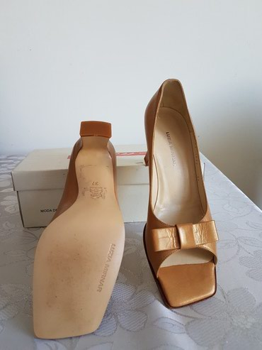Braon-kozne-sandale-broj-pitajte - Srbija: Zenske kozne sandale, boje zlatno-braon, broj 37 (model za uzu nogu)