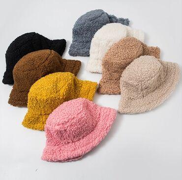 шапки и варежки в Кыргызстан: Зимние панамыПанамки зимниеТедди шапкаОчень теплыеРегулируемый размер