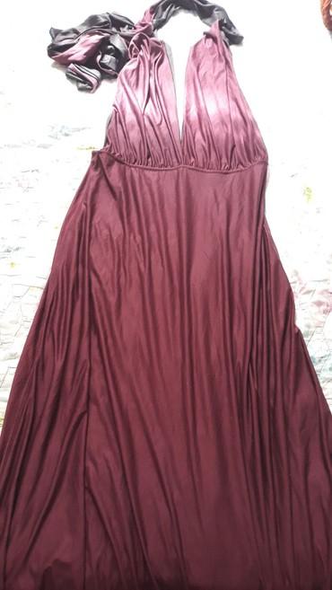 длинные закрытые вечерние платья в Кыргызстан: Вечернее бордовое платье, длинное. Цена 700