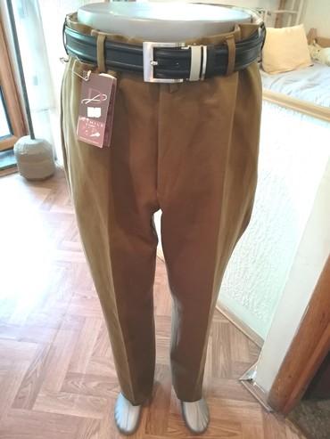 Pantalone m tamno braon imaju dva zakopcavanja napred - Srbija: Nove muske pantalone Detmile. Italijanske. Odlicne muske pantalone za