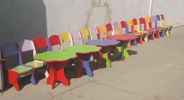 uşaq masaları - Azərbaycan: Usaq bagcalari ucun masa desti 200 azn seher daxili catdirilma