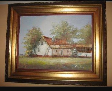 Haljina-ruze - Srbija: Bartoš Darko, Salaš, ulje na platnu zategnuto na blind ram, dimenzija
