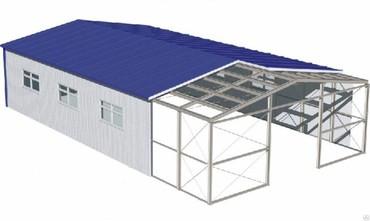 гараж из сендвич панелей в Кыргызстан: Металлоконструкция, каркасы  дом офисы магазины из сендвич панелей люб