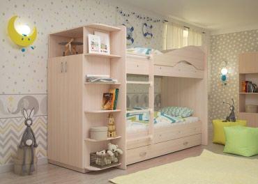 Двухъярусный кровать + шкаф размер матраса 190/90см в Бишкек