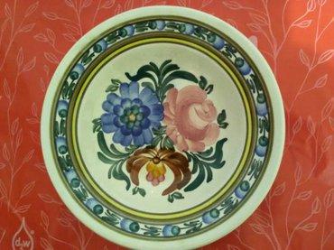 Zidni ukrasni tanjir, prečnik 24 cm, dubok, očuvan donet iz poljske se - Pozarevac
