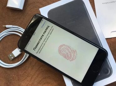sim karta dlja iphone 5 в Кыргызстан: Б/У iPhone 7 128 ГБ Черный