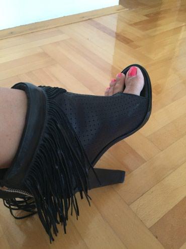 Kozne sandala-cizmice na stiklu, vrlo udobne i nikad obuvene, br.38 - Krusevac