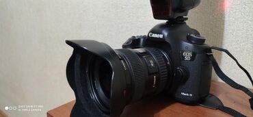 canon-mark-2-5d-цена в Кыргызстан: Canon 5d mark 3 с широкоугольным объективом canon 17-40мм состояние